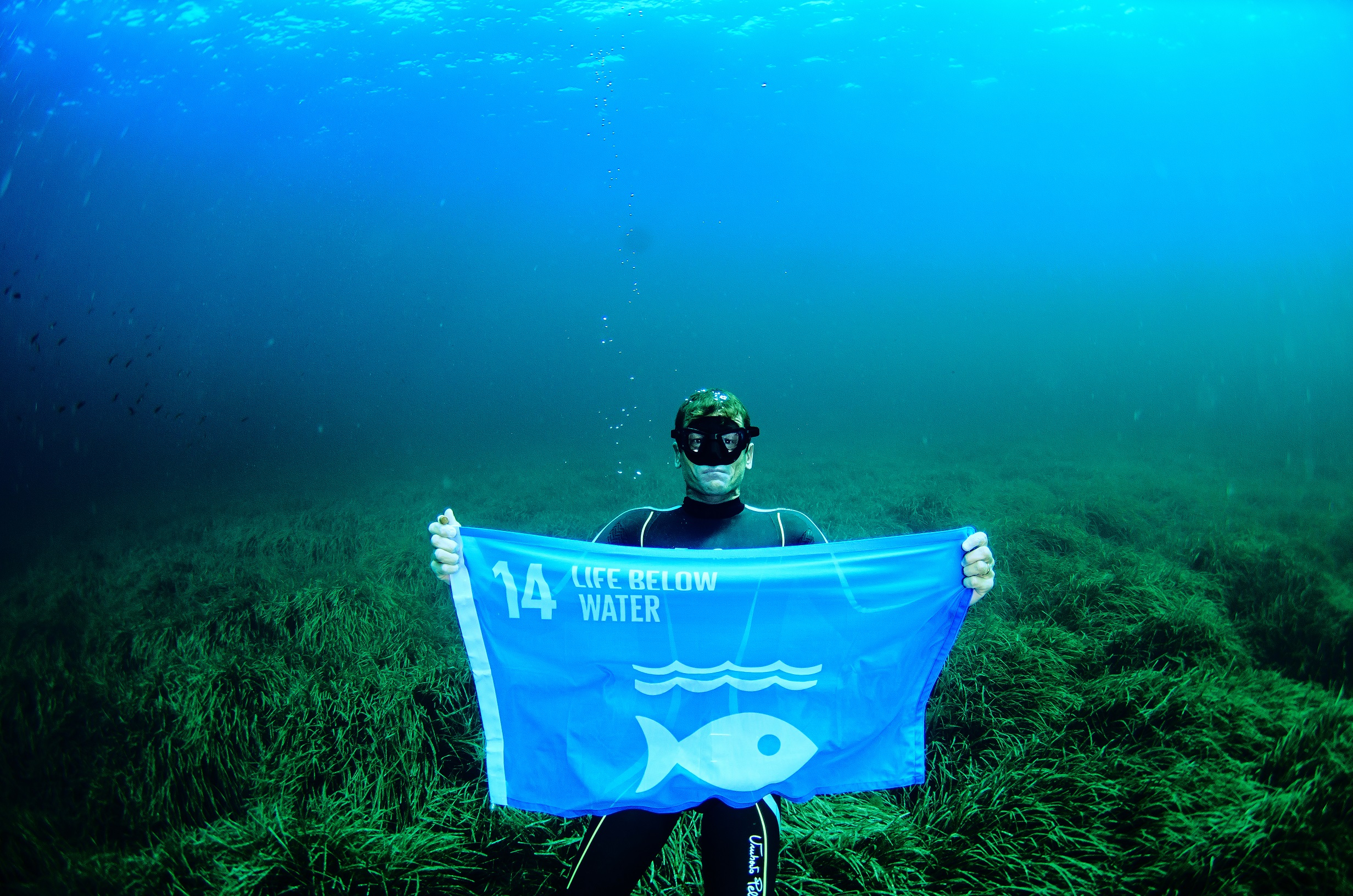 http://eo-jo.com/wp-content/uploads/2019/06/SDG14-Free-diving-world-champion-Umberto-Pelizzari-raised-a-flag-to-represent-Goal-14-Life-Below-Water-UN-Global-Goals-for-Sustainable-Development-Credit-Enric-Sala-RESIZED.jpg